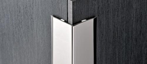 Paraspigolo acciaio lucido 25x25 mt 2 70 adesivo proedge de rosa srl - Paraspigoli per piastrelle bagno ...