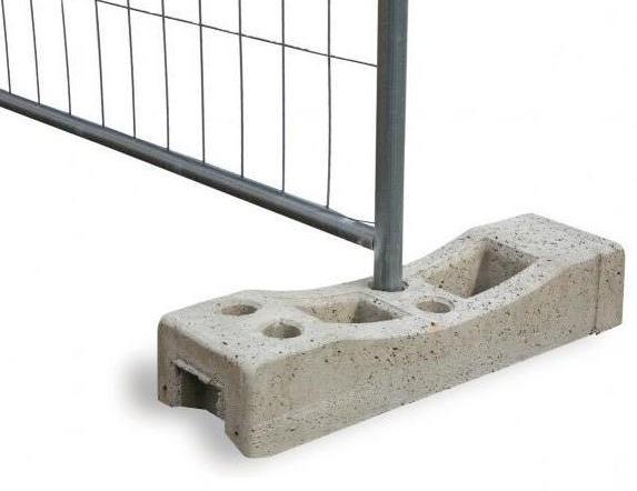 Base Cemento Per Recinzione Provvisoria De Rosa Srl