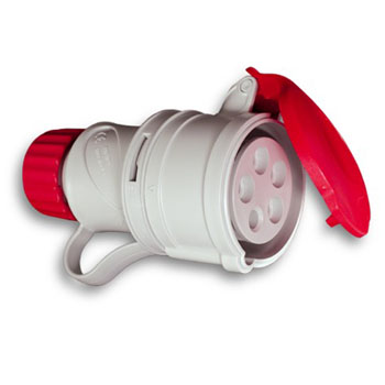 SPINA FEMMINA 380W 16A 3P+N+T 71105