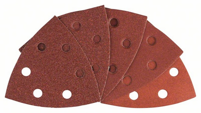 CARTA ABRASIVA SET 10PZ RED PER MULTIFUNZIONEGR.60,80,100,120,180 2608607540