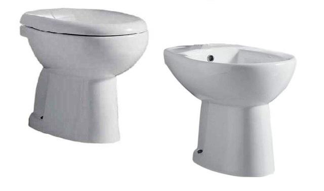 Serie Lara Ceramica Cielo.Serie Igienici Lara Da Terra Ceramica B Ca Vaso Bidet