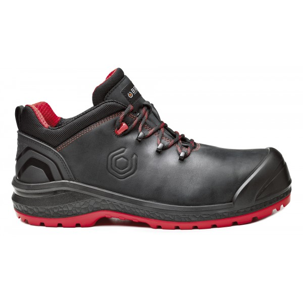 SCARPA BASE ALTA BE-UNIFORM S3 NERO IN PELLE ANTIBATTERICO