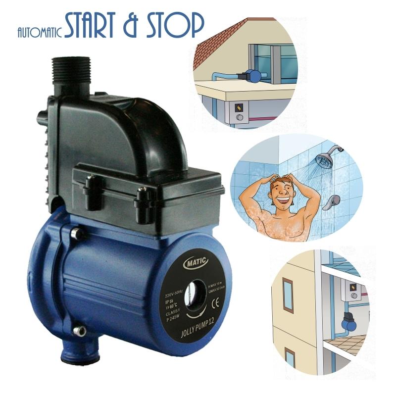 Pompa automatica jollypump12 per rilancio pressione - Portata e pressione acqua ...