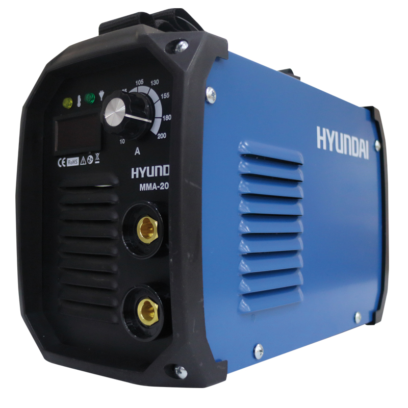 SALDATRICE INVERTER HYUNDAI 200A CD.45140    COMPLETA DI CAVI E MASCHERA LIGHT DUTY