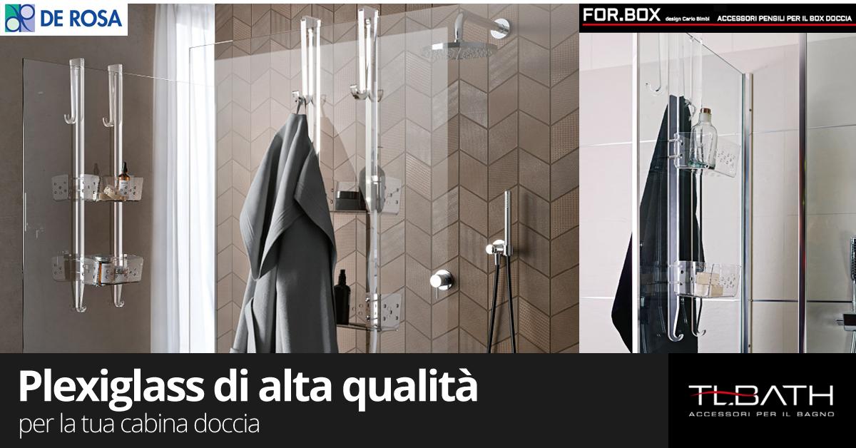 Griglia trasparente per doccia a ripiani de rosa edilizia a